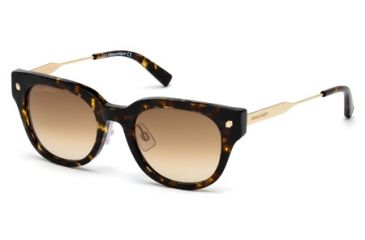 DSquared DQ0140 Sunglasses - Coloured Havana Frame Color, Gradient Brown Lens Color
