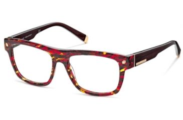 DSquared DQ5076 Eyeglass Frames - Coloured Havana Frame Color, Smoke Lens Color