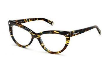 DSquared DQ5086 Eyeglass Frames - Coloured Havana Frame Color