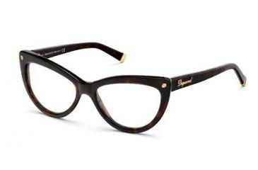 DSquared DQ5086 Eyeglass Frames - Dark Havana Frame Color
