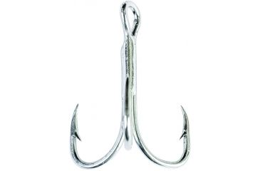 8-Eagle Claw 2x Double and Treble Hook, Curved Point