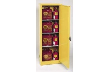 Eagle Manufacturing Space-Saver Flammable Liquids Storage Cabinets, Vertical, Eagle Manufacturing 2310 Space Saver Cabinet, Self-Closing Door