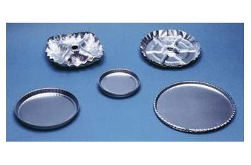 Eagle Thermoplastic Disposable Aluminum Weighing and Drying Pans D-12 Drying Pan With Hole (for liquids)