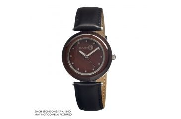 Earth Et1005 Brown Jasper Watch, Dark Brown ETHET1005