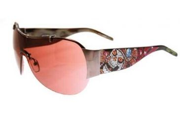 Ed Hardy Fun Dagger-Skull Crystal Sunglasses - Cocoa Frame, Brown Lens
