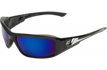 Edge Eyewear Brazeau Safety Glasses Black Frame Blue Mirror Lens Xb118