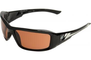 Edge Eyewear Brazeau Safety Glasses Black Frame Copper Driving Lens Xb115
