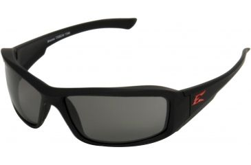 Edge Eyewear Brazeau Safety Glasses Black Torque Frame Smoke Lens Polarized Txb236