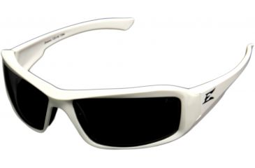 Edge Eyewear Brazeau Safety Glasses White Frame Smoke Lens Xb146