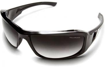 Brazeau Safety Glasses - Black Frame, Polarized Gradient Lens TXBG216