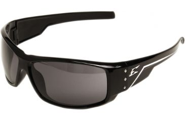 Edge Eyewear Caraz Safety Glasses Black Frame Smoke Lens Polarized Thz216