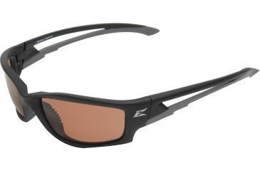 Edge Eyewear Kazbek Safety Glasses Black Frame Polarized Copper Driving Lens Tsk215