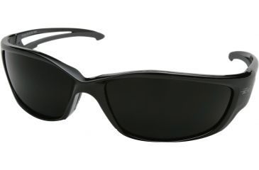 Edge Eyewear Kazbek Safety Glasses Black Frame Polarized Smoke Lens Tsk216