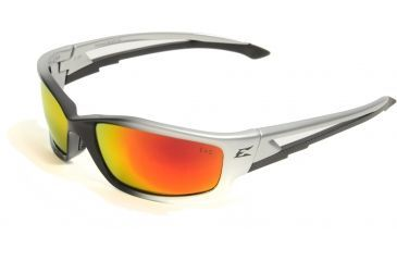 Edge Eyewear Kazbek - Black Frame, Aqua Precision Red Mirror Lens SKAP119