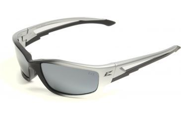 Edge Eyewear Kazbek Safety Glasses - Black Frame, Silver Mirror Lens SK117