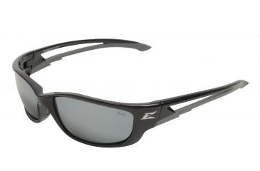 Edge Eyewear Kazbek Xl Safety Glasses Black Frame Silver Mirror Lens Sk Xl117