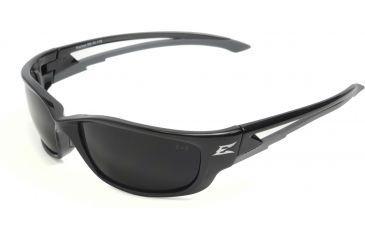 Edge Eyewear Kazbek XL Safety Glasses - Black Frame, Smoke Lens SK-XL116