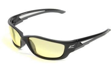 Edge Eyewear Kazbek XL Safety Glasses - Black Frame, Yellow Lens SK-XL112