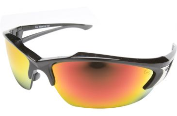 Edge Eyewear Khor Safety Glasses Black Frame Aqua Precision Red Mirror Lens Sdkap119