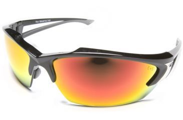 Edge Eyewear Khor - Black Frame, Aqua Precision Red Mirror Lens SDKAP119