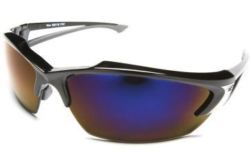 Edge Eyewear Khor Safety Glasses - Black Frame, Blue Mirror Lens SDK118
