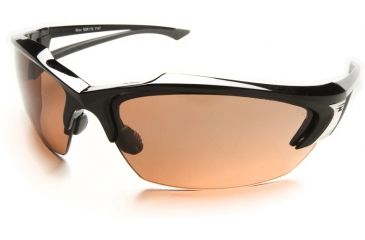 "Edge Eyewear Khor Safety Glasses - Black Frame, Copper ""Driving"" Lens SDK115"
