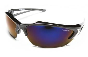 Khor - Black Frame - Polarized Aqua Precision Blue Mirror Lens TSDKAP218