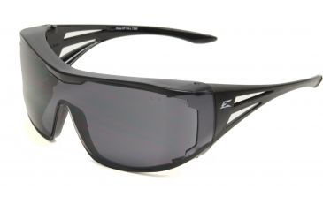 Ossa Fit Over Safety Glasses - Black Frame, Large Smoke Lens XF116-L