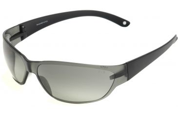 Edge Eyewear Savoia Safety Glasses - Black Frame, Smoke Lens AKE116