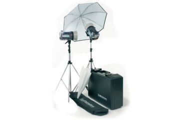 ElinchromStyle 300RX/600RX Kit With Umbr., Refle., Stands And Case EL-20743
