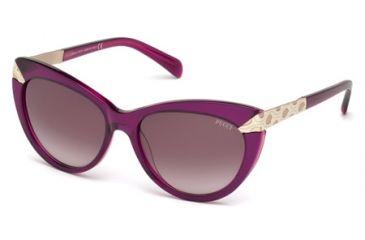 43631a400926 Emilio Pucci EP0017 Sunglasses - Bordeaux Frame Color, Gradient Bordeaux  Lens Color