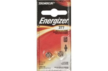Energizer 1.5 Volt Silver Oxide Zero Mercury Button Cell Battery 2 pack 377BPZ-2