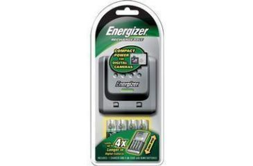 1-Energizer Sliding AA / AAA Charger w/ 4 AA NiMh Rechargeable Batteries