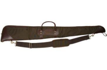 Envelop Cases Mississippi 52in Loden Leather Deluxe Gun Case, Brass/Loden Binding 801102
