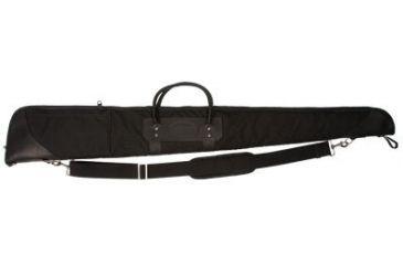 Envelop Cases Mississippi 52in Black Leather Deluxe Gun Case, Nickel/Black Binding 801103