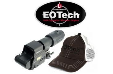 3-EOTech MPO III EXPS2-2 Holosight with G23 3X Magnifier - Circle 2-Dot Reticle, non-NV compatible