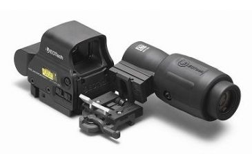 3-EOTech MPO II EXPS3-4 Holosight with G23 3X Magnifier - 4-Dot Reticle, NV Compatible