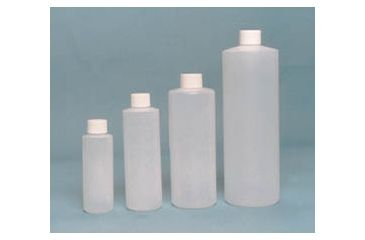 EP Scientific Cylinder Bottles with Caps, High-Density Polyethylene, EP Scientific Products 356-125W Level 3