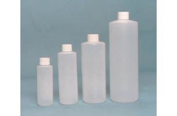 EP Scientific Cylinder Bottles with Caps, High-Density Polyethylene, EP Scientific Products 151-500W Level 1