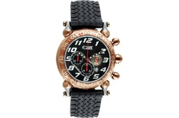 Equipe E104 Balljoint Mens Watch - Rosegold Case, Black Dial, Rubber Strap
