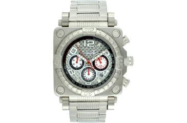 Equipe E309 Gasket Mens Watch - Silver Case, Bezel, Dial, Bracelet