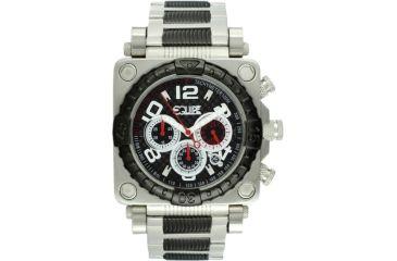 Equipe E310 Gasket Mens Watch - Black Bezel, Black Dial, Black/Silver Bracelet