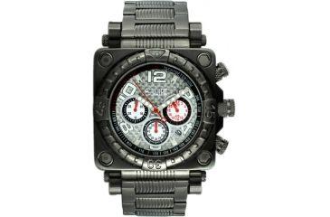 Equipe E313 Gasket Mens Watch - Black w/ Silver Dial