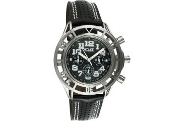 Equipe E801 Chassis Mens Watch - Black Strap, Silver Case, Black Dial