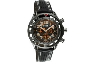 Equipe E805 Chassis Mens Watch - Black Strap, Black Case, Black/Rosegold Dial