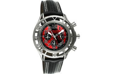 Equipe Eqb104 Mustang Boss 302 Mens Watch - Silver Case, Red Dial w/ Black Stripe