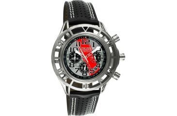 Equipe Eqb105 Mustang Boss 302 Mens Watch - Silver Case, Silver Dial w/ Red Stripe