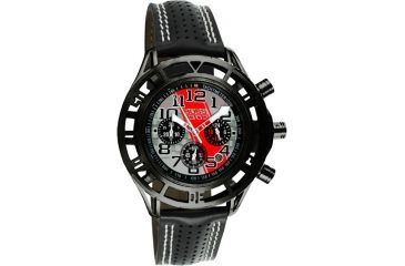 Equipe Eqb106 Mustang Boss 302 Mens Watch - Black Case, Silver Dial w/ Red Stripe