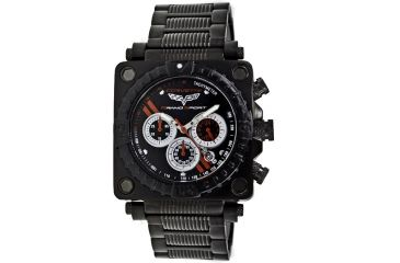 Equipe Ev301 Corvette Grand Sport Mens Watch - All Black - Metal Bracelet