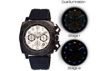 Equipe Tritium Push Mens Watch, Black-White EQUET303